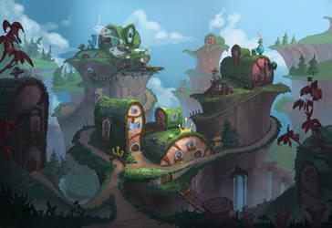 Sod house village