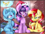 Trixie Twilight Sunset Shimmer  Merry Christmas