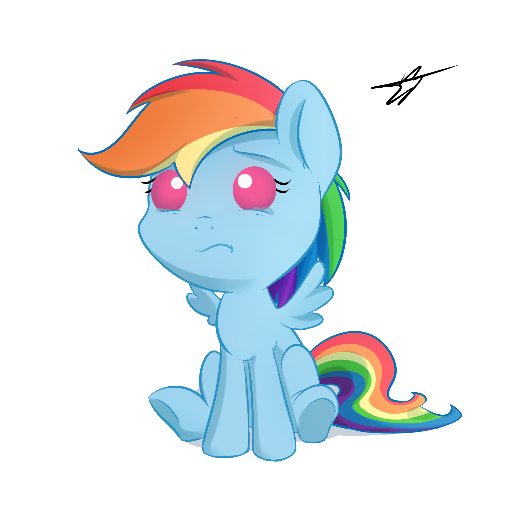 Baby Rainbow Dash Png Baby Rainbow Dash by