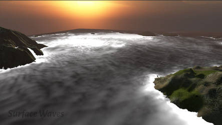 Surface Waves - Foam Edge distance visualization