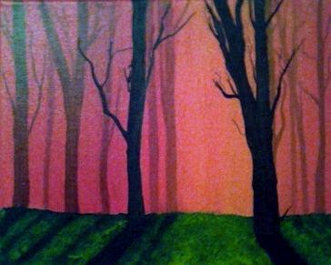 Misty Orange Forest by RubyDuby61