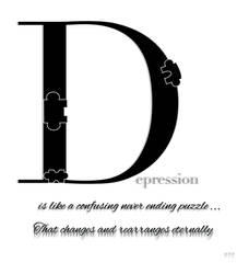 Depression seems like a never ending puzzle by My13LostMemories