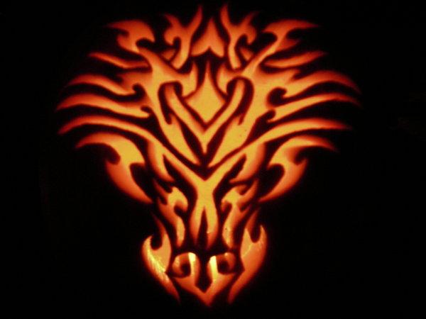 Dragon Tribal Design by Kawaii--Koneko