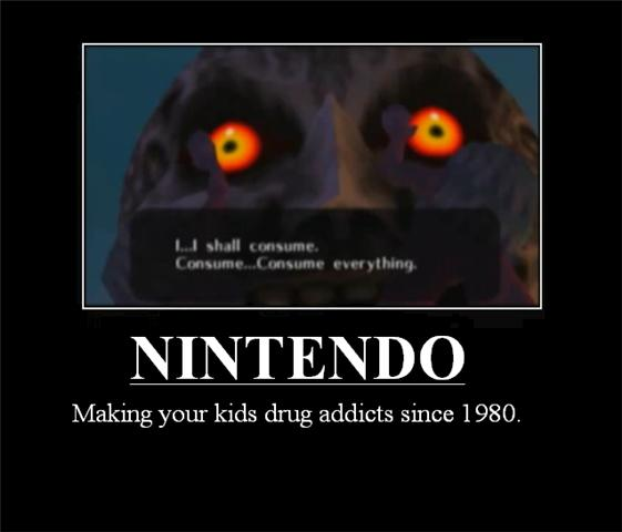 Majora's Mask Moon Drug adict by Nisshoke