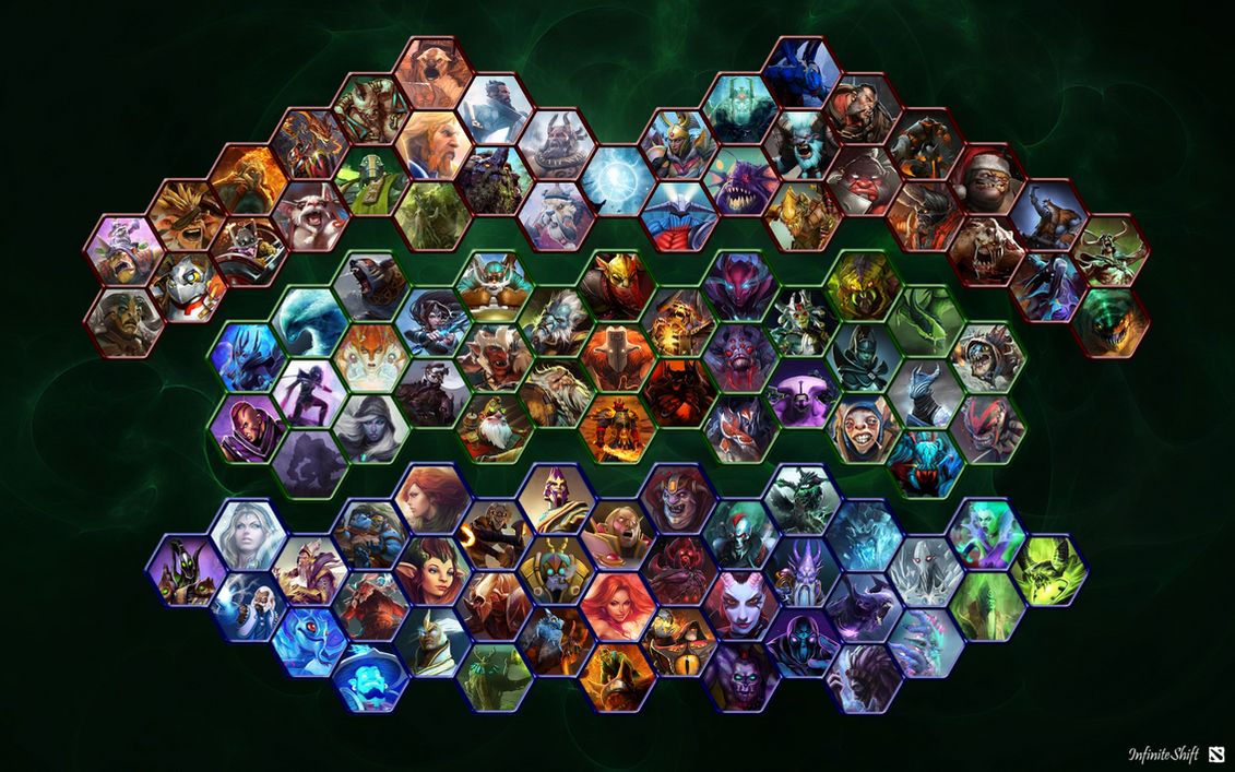 dota 2 all heroes wallpaper by shifty44 on deviantart