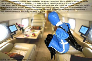 Latex stewardess by fastfict