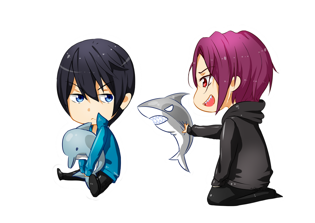 free chibi rin and haru by graycchi on deviantart