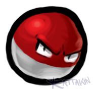 Small Grumpy Voltorb. C: by KAttAKIN