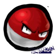 Small Grumpy Voltorb. C: by KAttAKIN