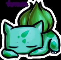 Sleepy Bulbasaur by KAttAKIN