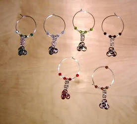 Chainmaille Wine Charms Second Design
