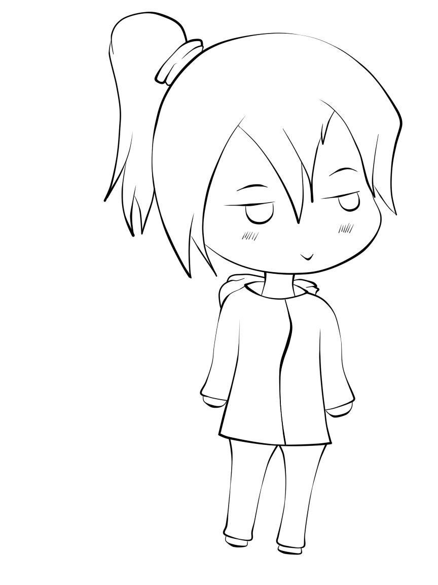 Chibi lineart by xVxsimple-angelxVx on DeviantArt
