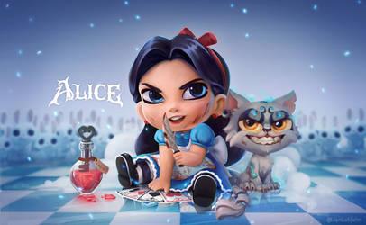 Chibi Alice by JenL0hjelm