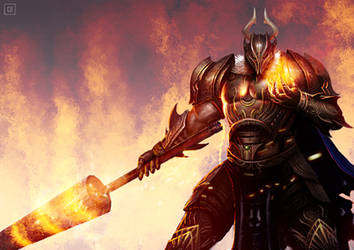 Flame Lanced Knight by BillCreative