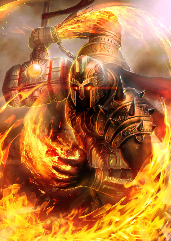 Prometheus God of Flame level 4 by BillCreative