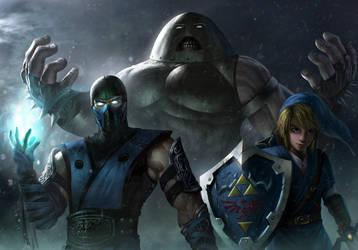 Unlikely Trio (Subzero + Link + Juggernaut) by BillCreative
