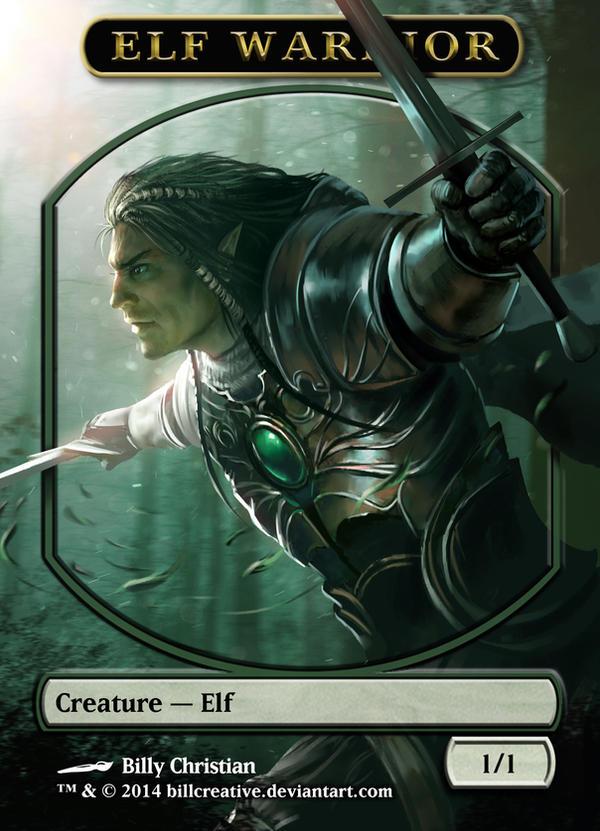 Elf Warrior Token by BillCreative