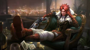 Caine the Revolver Hero - Splash Art