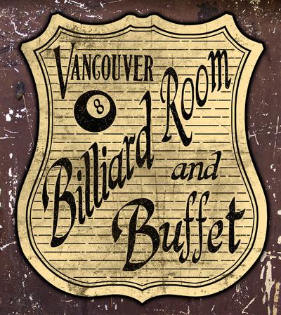 Vintage Billiard Sign by Jmorgan07
