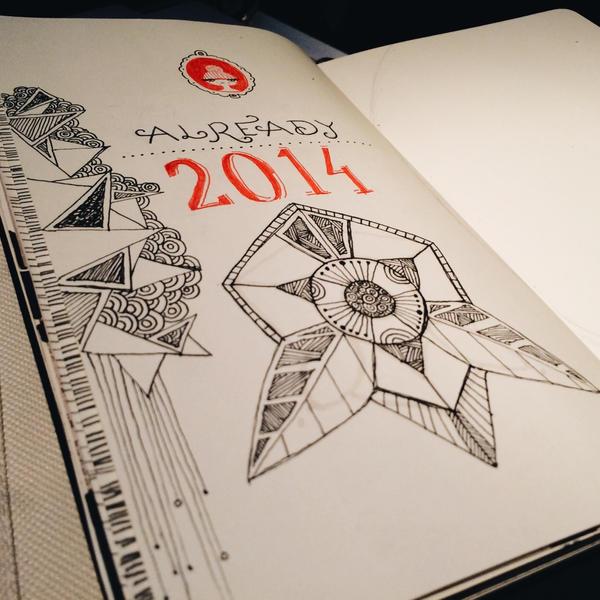 Moleskine doodle - already 2014 by bekamonster