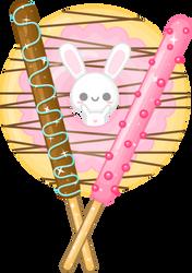 Pocky Bunny by sugarlette