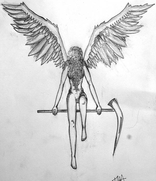 Guardian Angel Tattoo Sketches Guardian Angel by grimmshadow