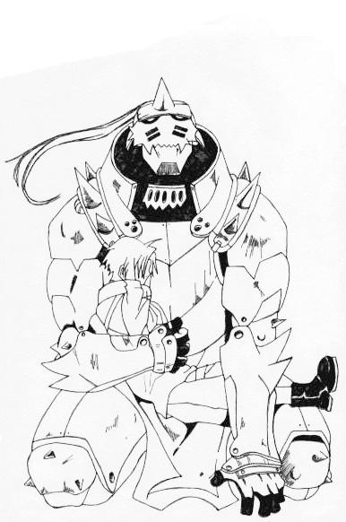 Edward and Alphonse Sketch by l3xxybaby
