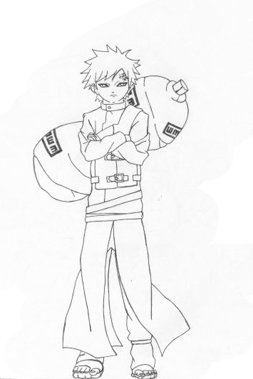 Gaara Sketch Basic Form by l3xxybaby