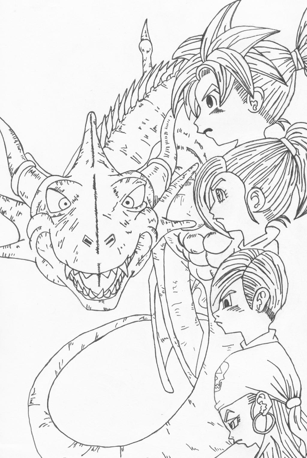 Blue Dragon Sketch by l3xxybaby