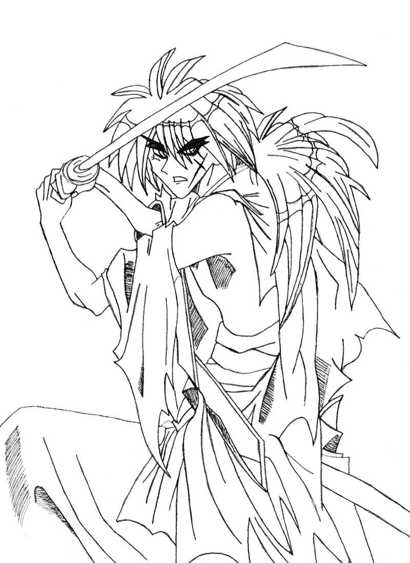 kenshin sketch by l3xxybaby