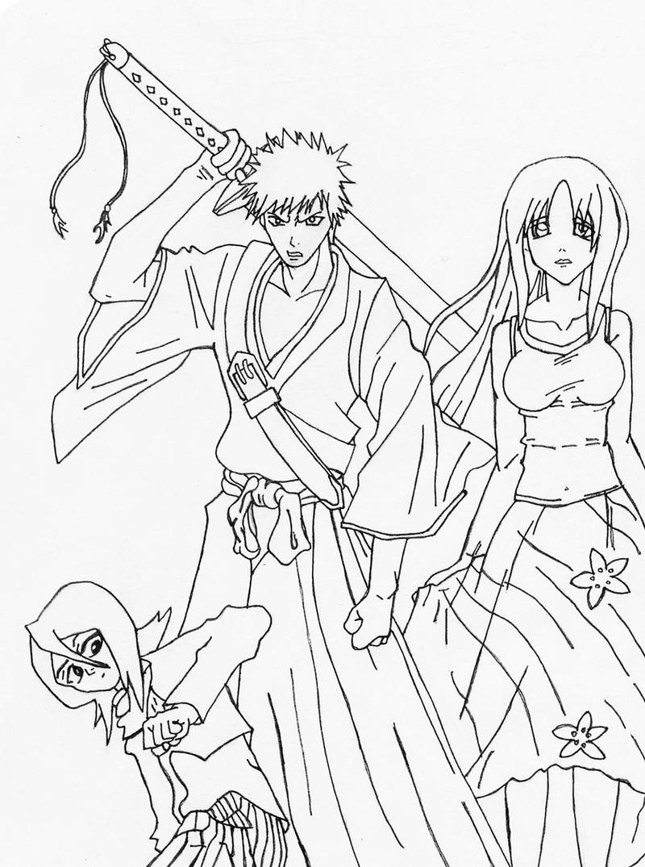 Bleach Trio Sketch by l3xxybaby