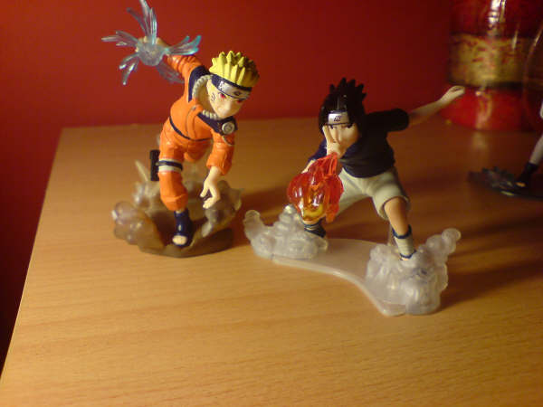 Naruto and Sasuke models by l3xxybaby