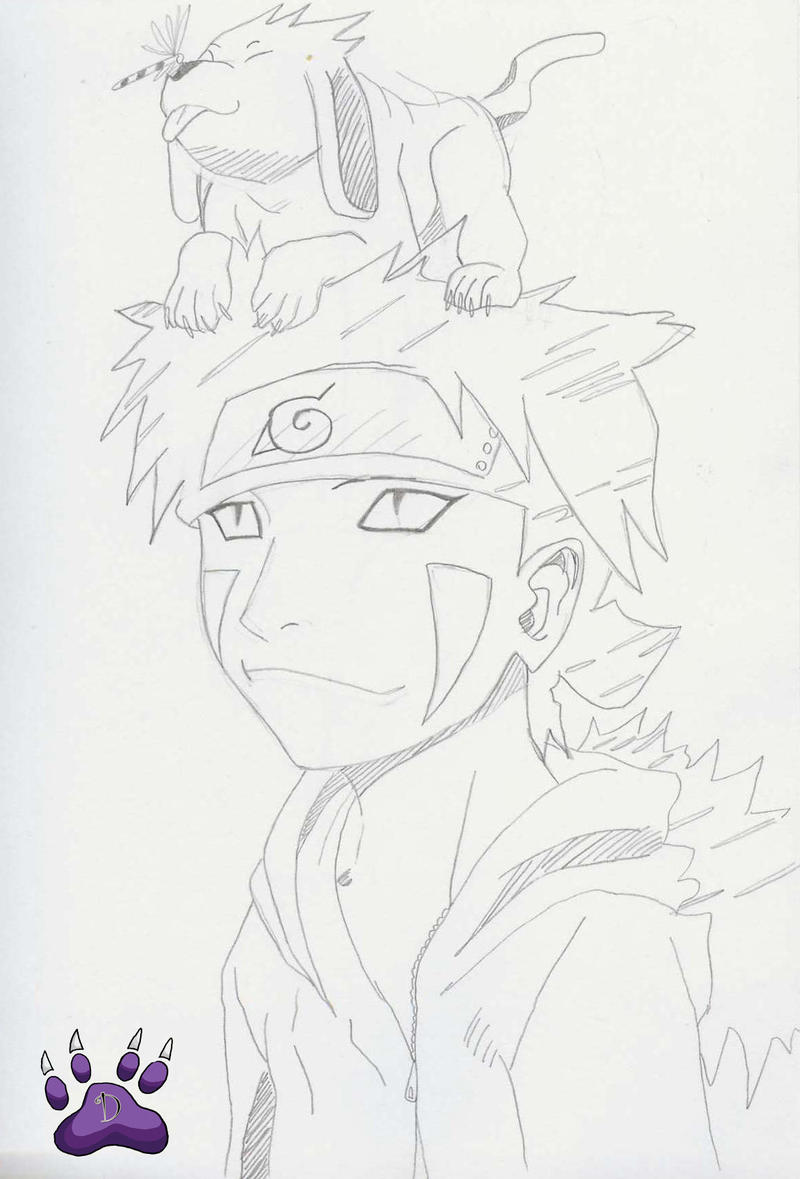 Kiba And Akamaru Dragonfly by l3xxybaby