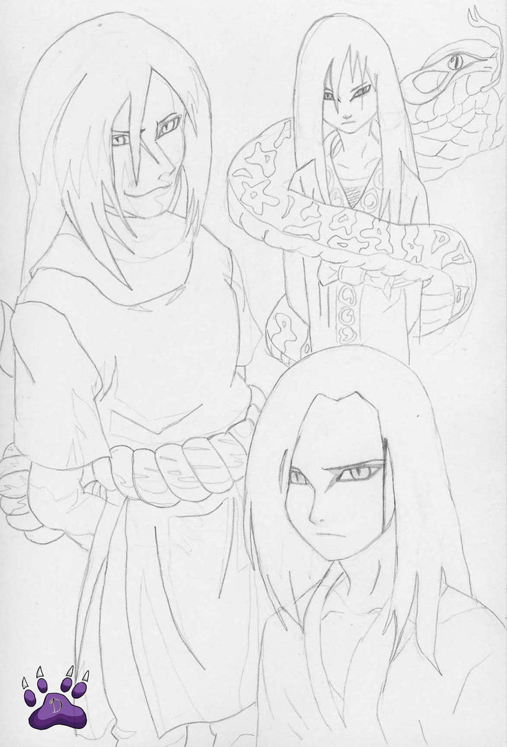 Evolution of Orochimaru by l3xxybaby