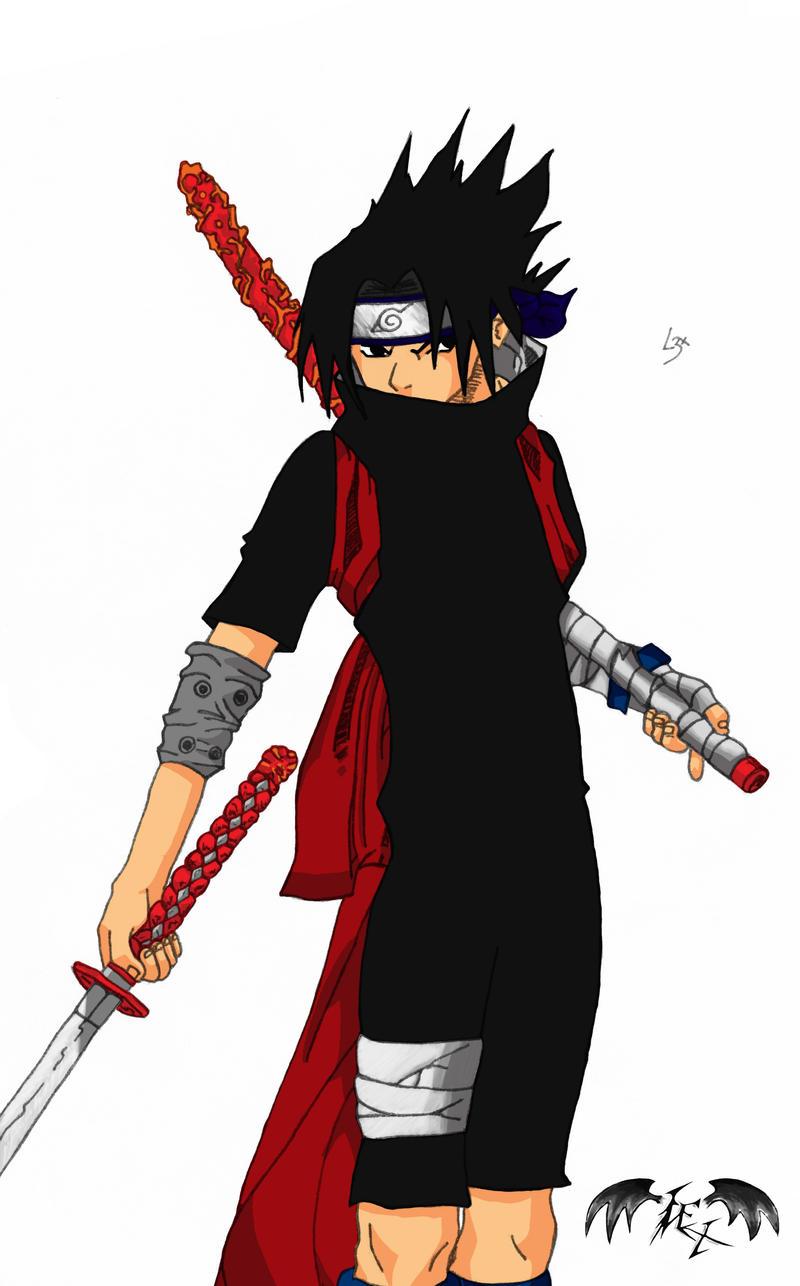Sasuke Sword Coloured by l3xxybaby