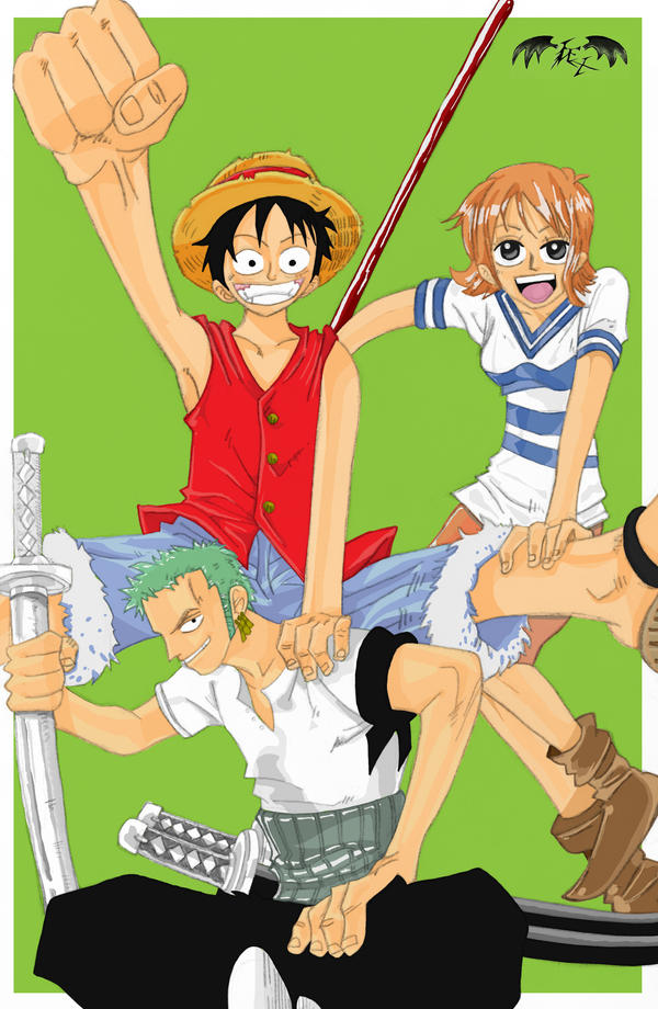 One Piece Trio by l3xxybaby