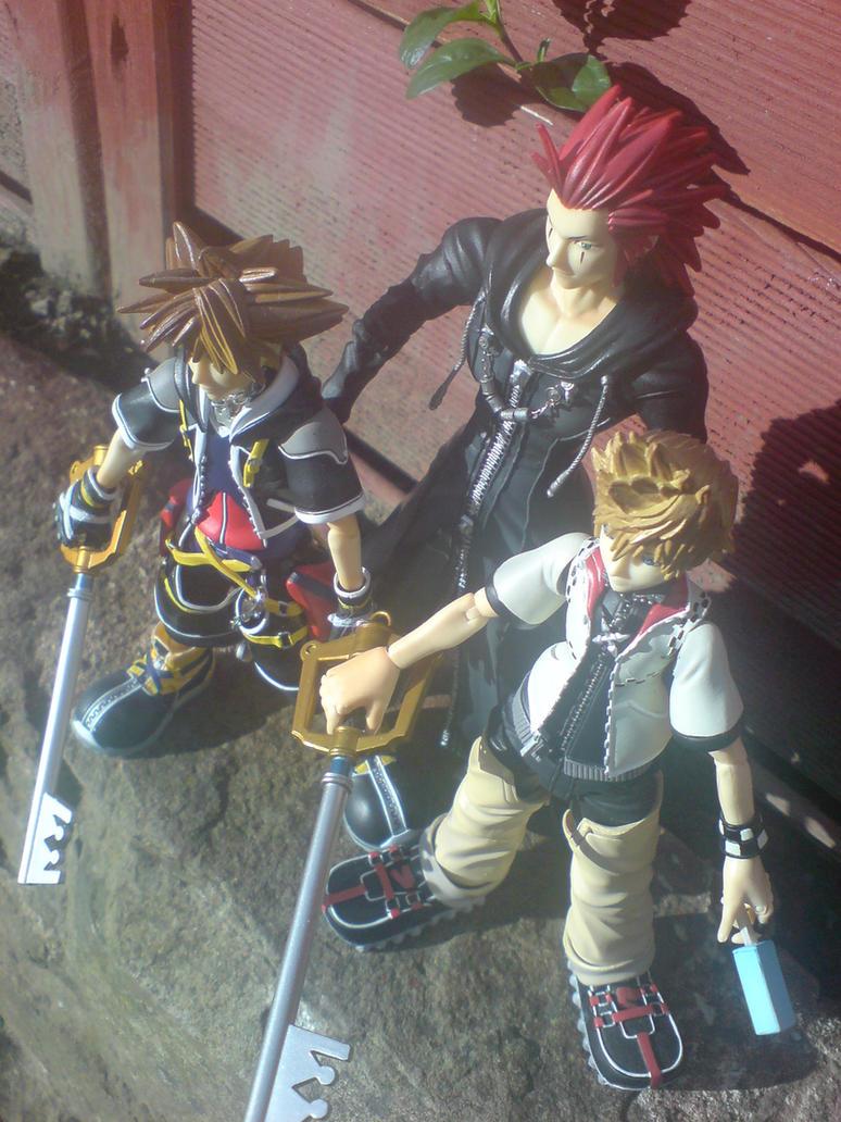 Kingdom Hearts Trio by l3xxybaby