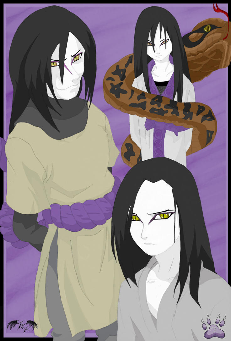 Evolution Of Orochimaru Color by l3xxybaby