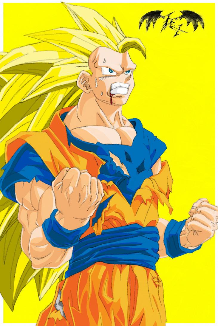 Goku Super Saiyan 3 Color by l3xxybaby