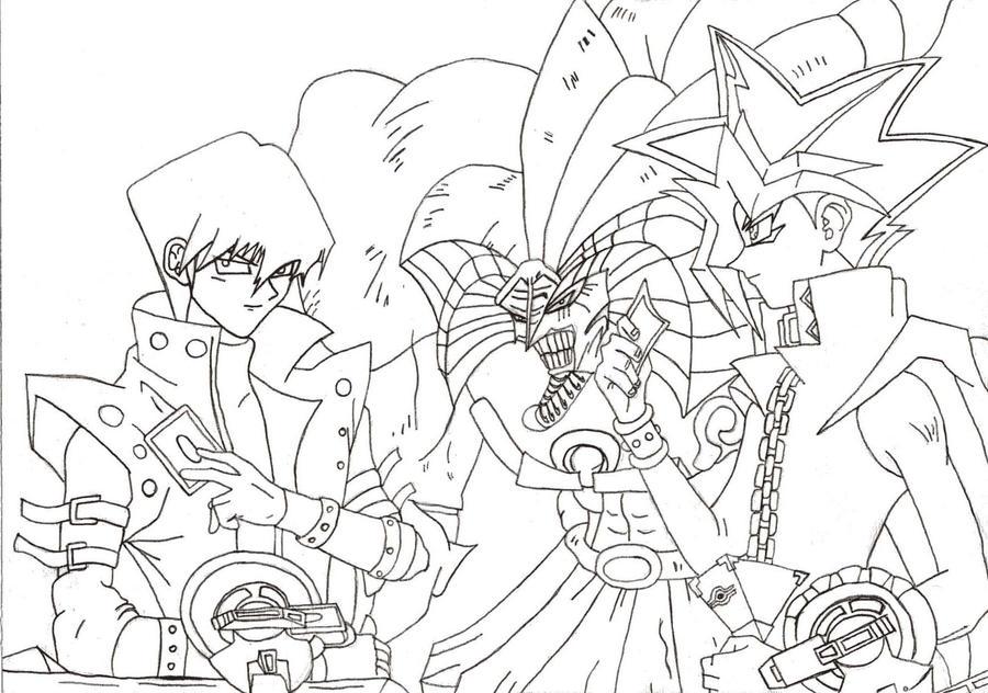 Yugioh Vs Kaiba sketch by l3xxybaby