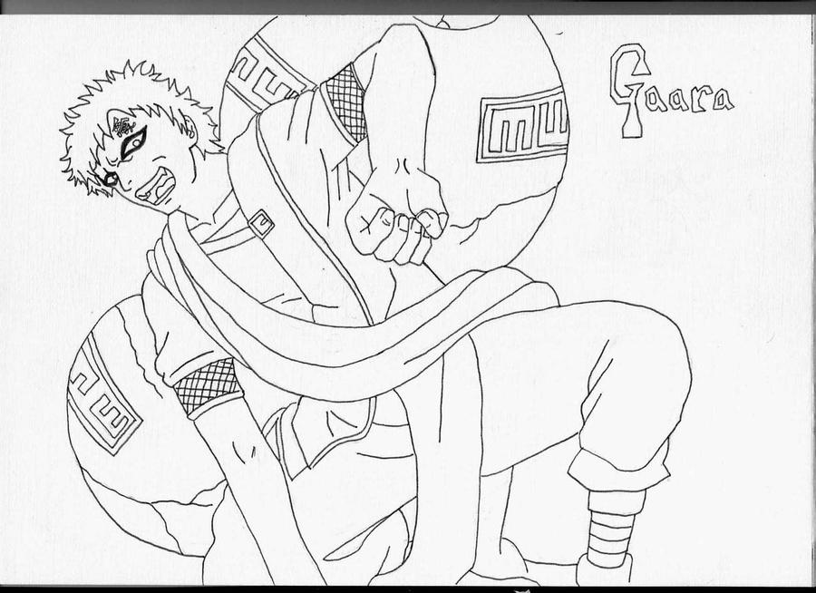 gaara coloring pages - photo#43