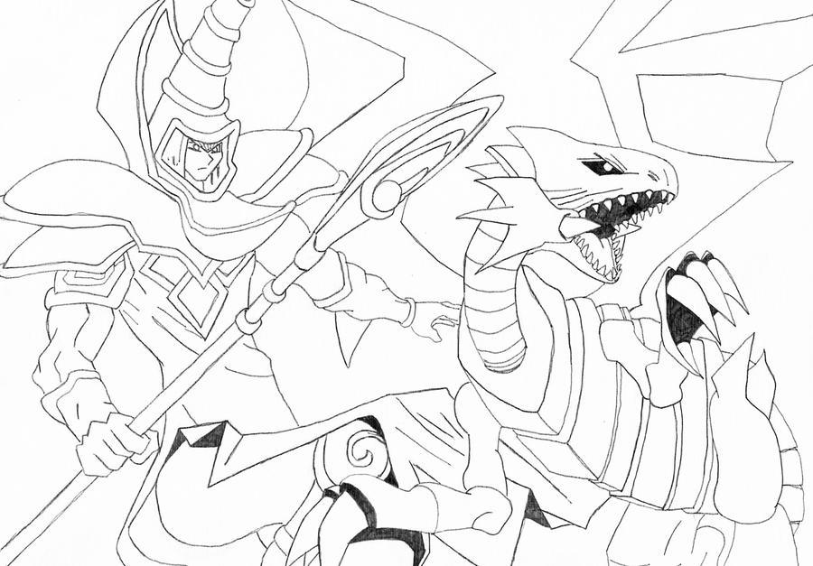 Dark Magician Vs Sketch by l3xxybaby