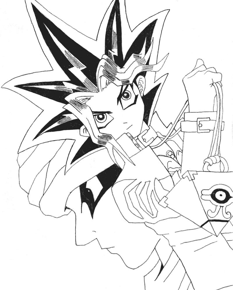 Yugi And Shady Sketch by l3xxybaby