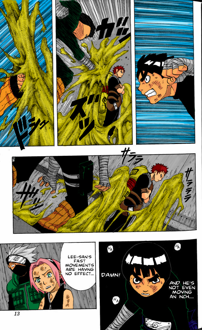Naruto Volume10 Gaara Vs Lee by l3xxybaby