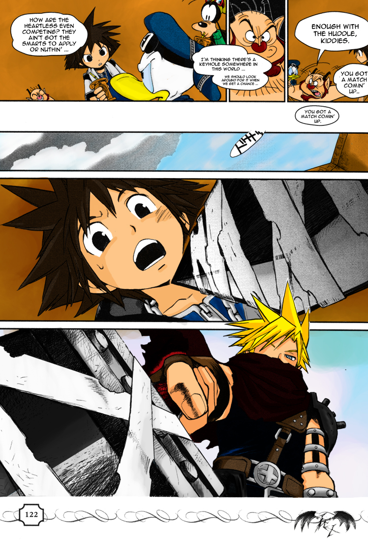 Kingdom Hearts Manga C25 color by l3xxybaby