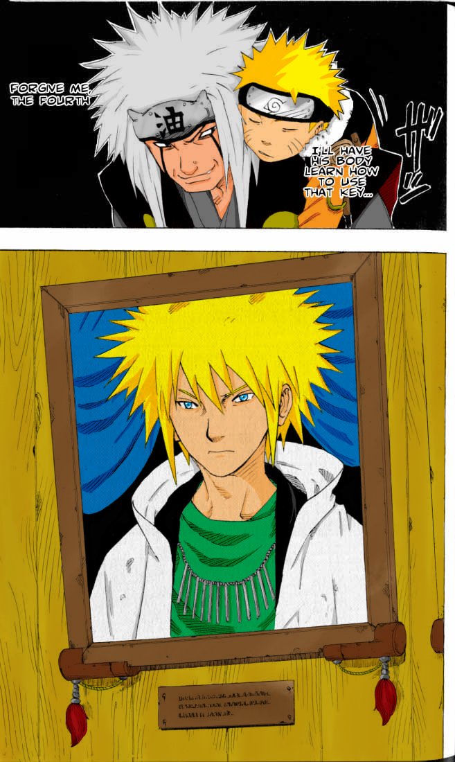 Naruto Jiraiya + the 4th Color by l3xxybaby