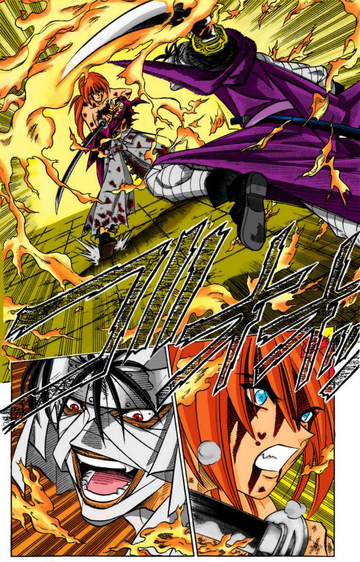 Kenshin vs Shishio Scan Color by l3xxybaby