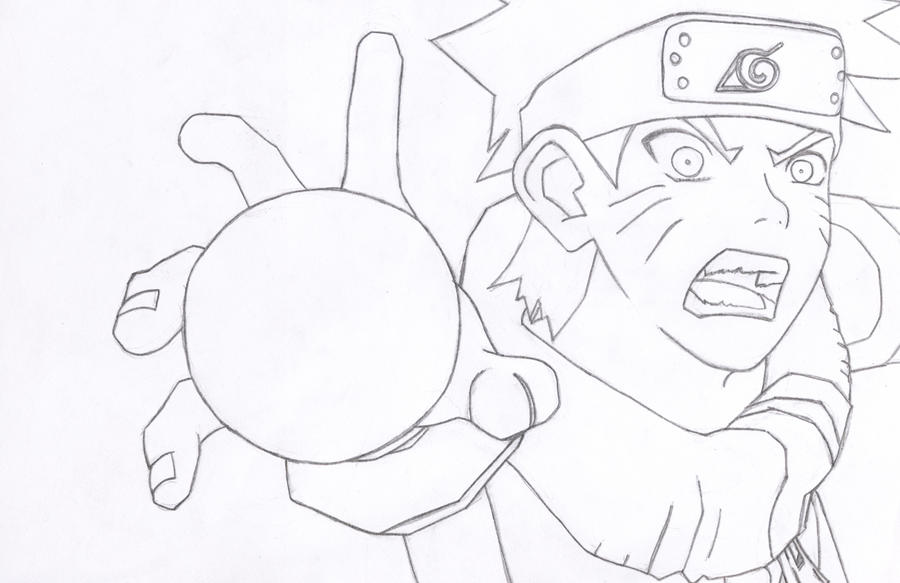 Naruto Rasengan Lineart by l3xxybaby