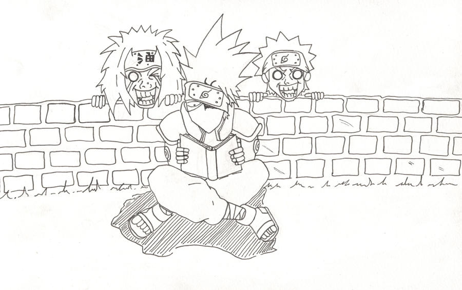 Hidden Leaf Pervs Lineart by l3xxybaby
