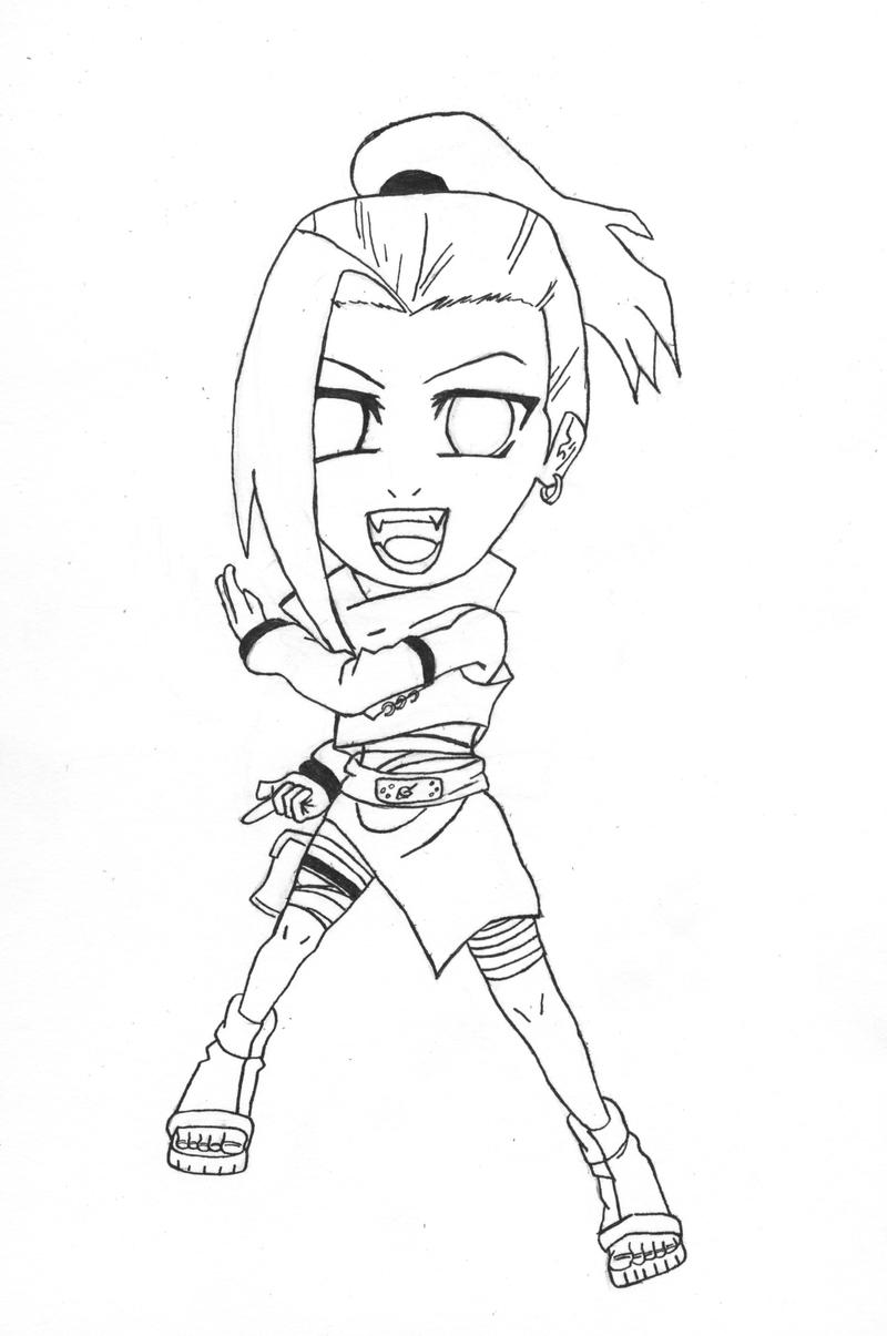 Ino Chibi Lineart by l3xxybaby